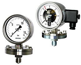 Plattenfedermanometer